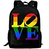TRFashion Mochila LGBT Love Print Custom Casual School Bag Backpack Multipurpose Travel Daypack